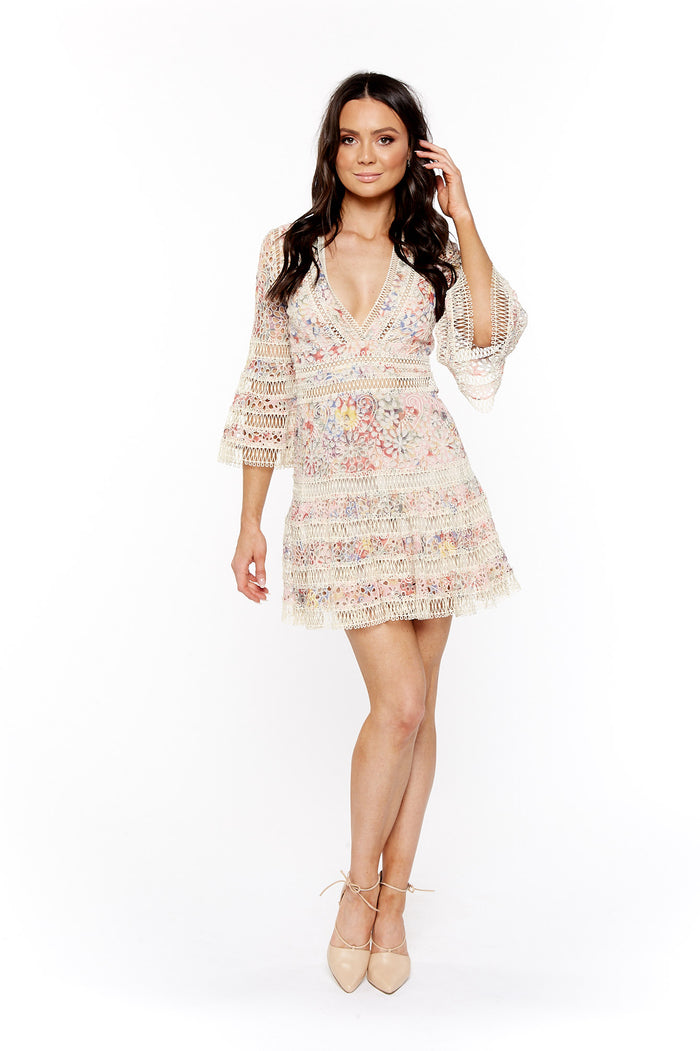 Zimmermann - Lovelorn Floral Flutter Dress