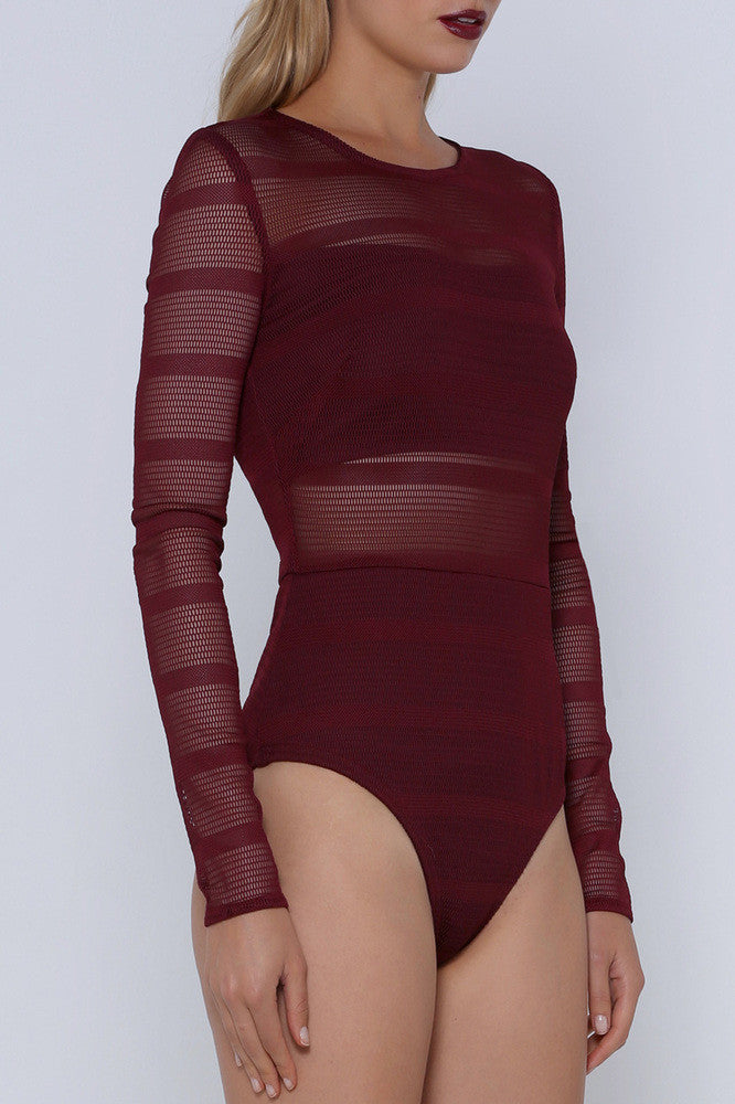 Premonition Designs Encounter Bodysuit in wine