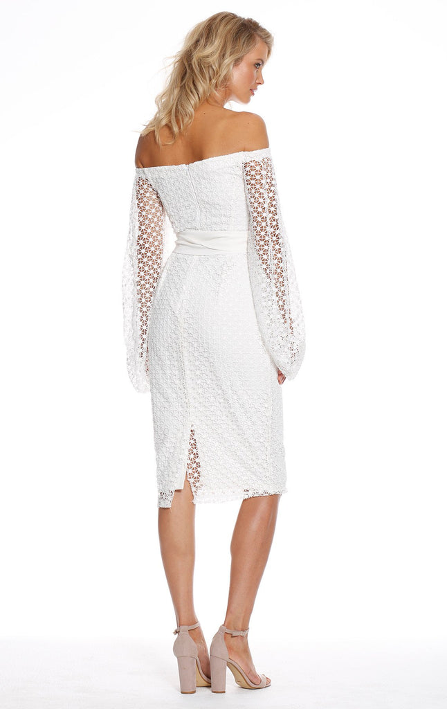 Pasduchas Floozy Sleeve Midi Dress in Ivory
