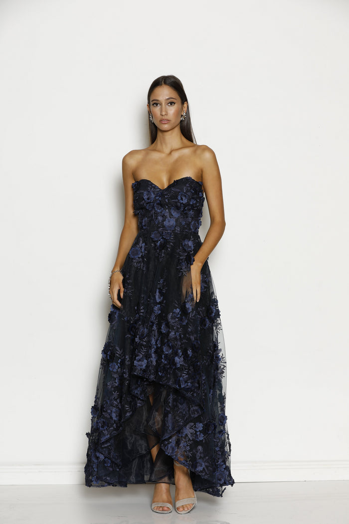 Grace & Hart Rosetta Gown in Navy