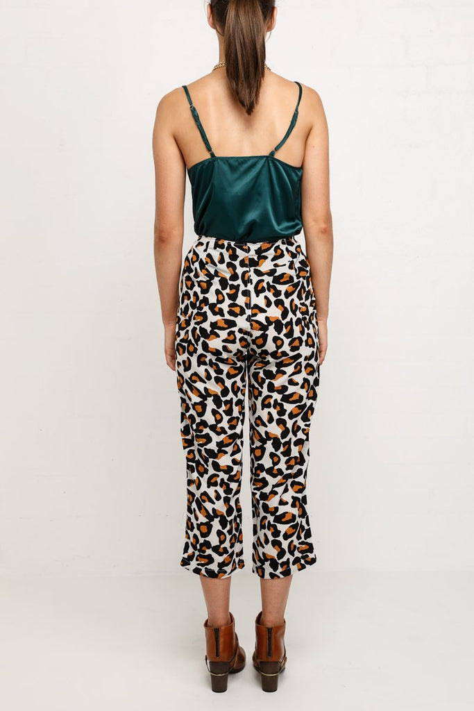 Spencer High Waisted Leopard Print Cullotes