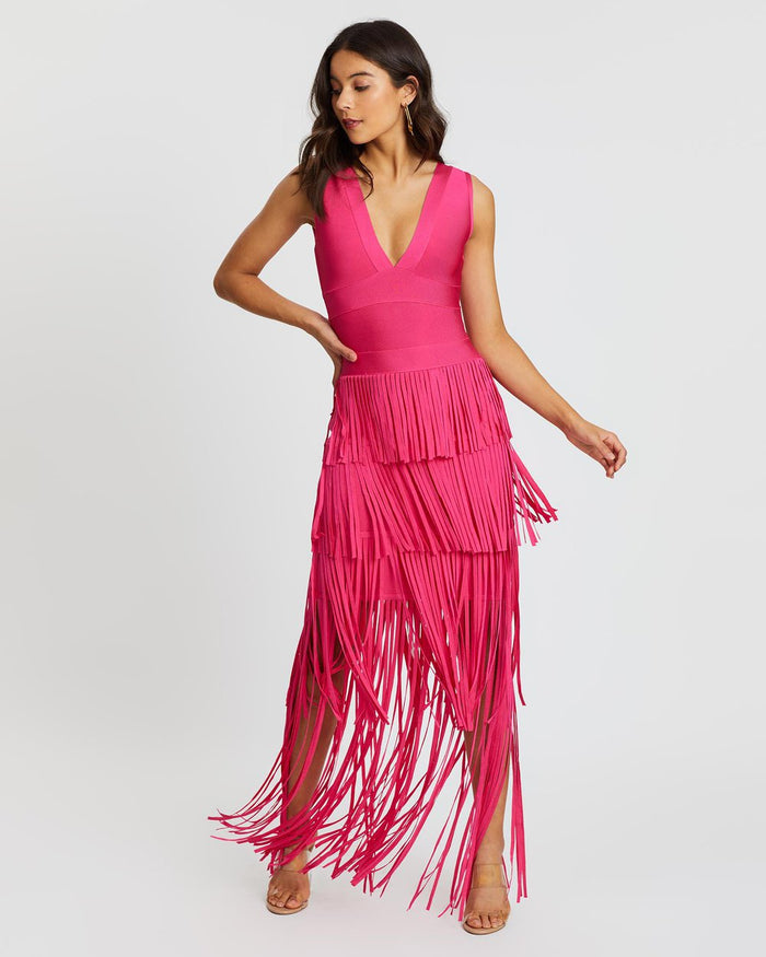 Elliatt Dimension Fringe Dress