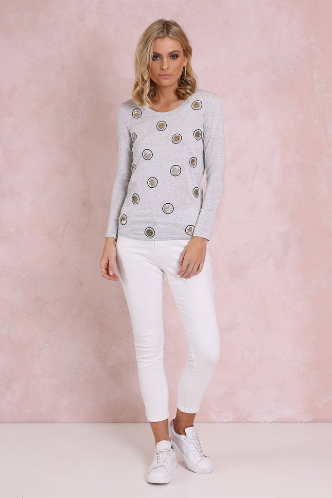 Madison Square Spotlight top in Grey