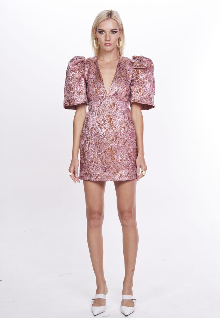 Nicola Finetti Kendall Dress | Pink Copper