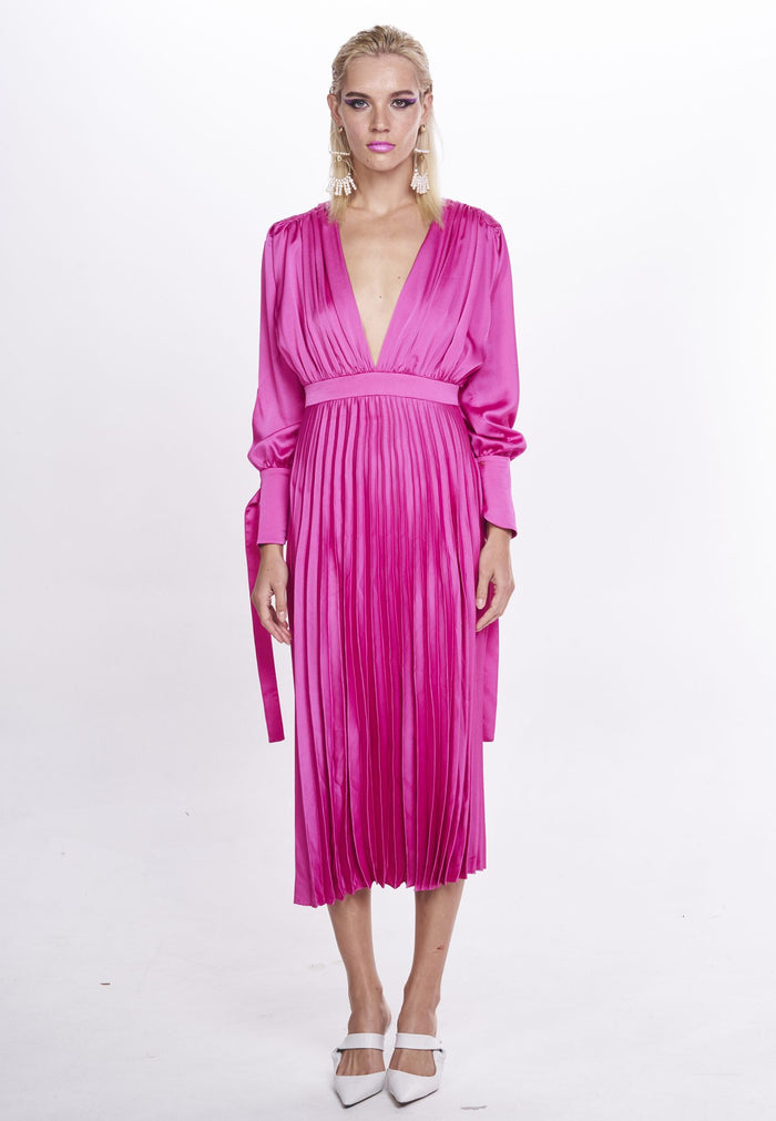 Nicola Finetti Eliana Dress | Cerise