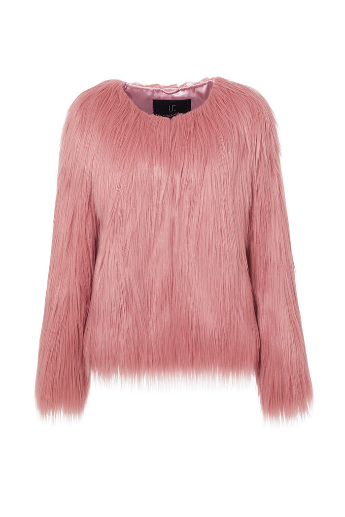 Unreal Fur Unreal Dream Jacket in Blush Pink