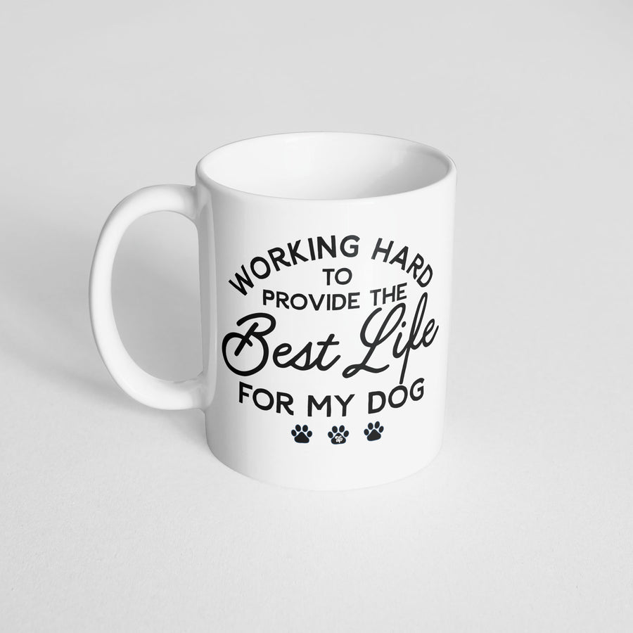 Working Hard to Provide Mug - The Dapper Paw