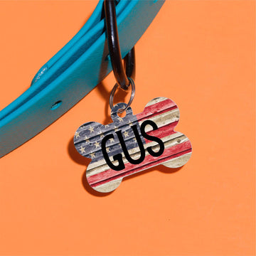 Gus Flag Pet ID Tag
