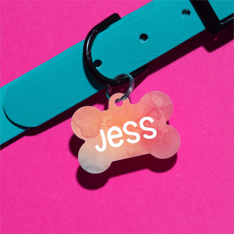 Jess Watercolor Pet ID Tag
