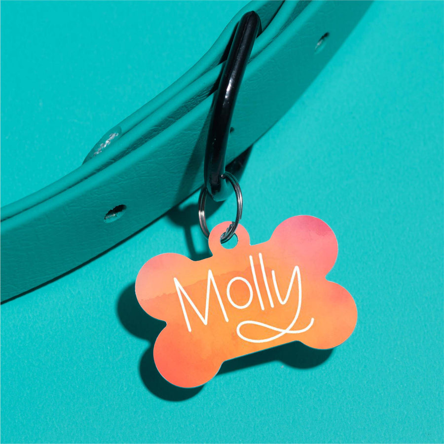 Molly Watercolor Pet ID Tag
