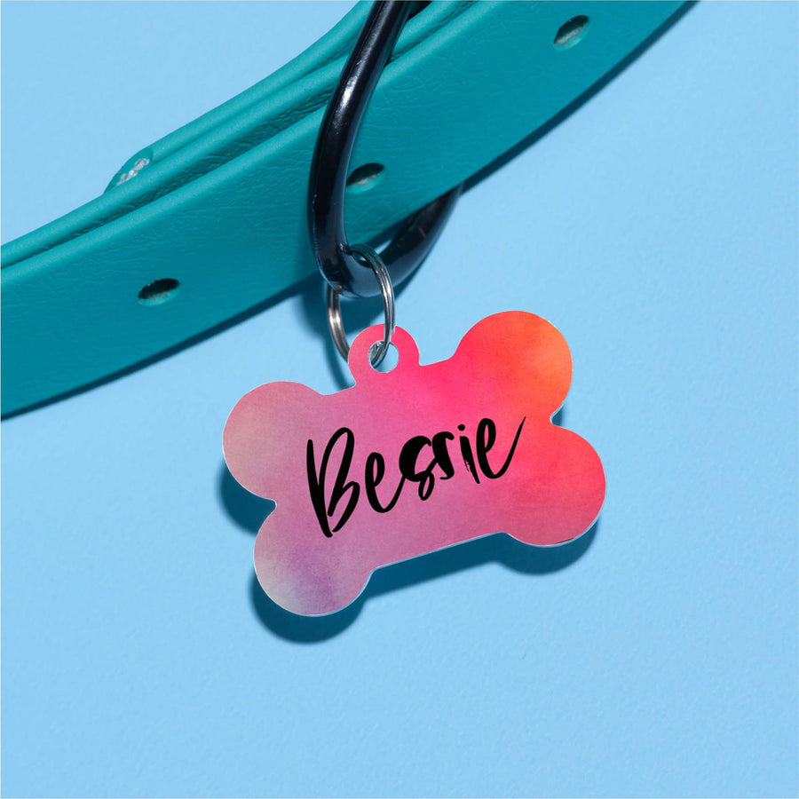 Bessie Watercolor Pet ID Tag