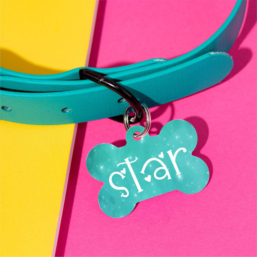 Star Watercolor Pet ID Tag