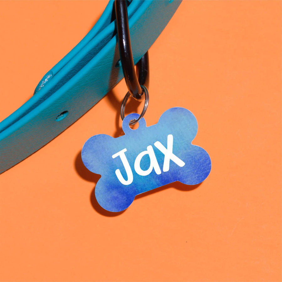 Jax Watercolor Pet ID Tag