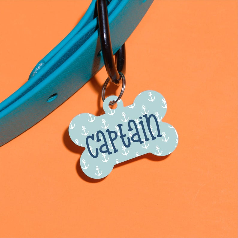 Anchors Away Pet ID Tag - The Dapper Paw