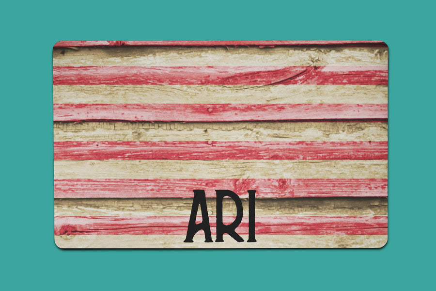 Ari's Wooden Flag Placemat