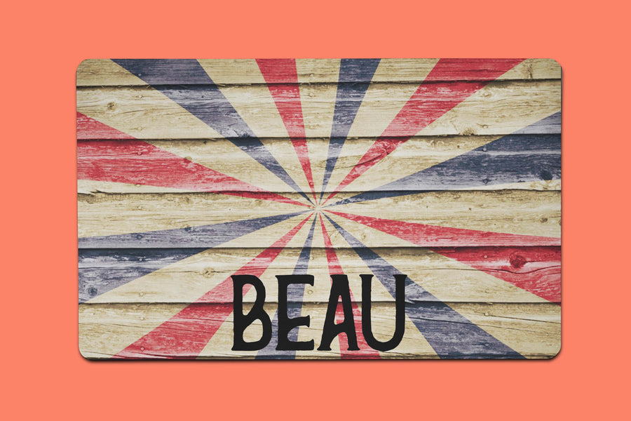 Beau's Wooden Flag Placemat