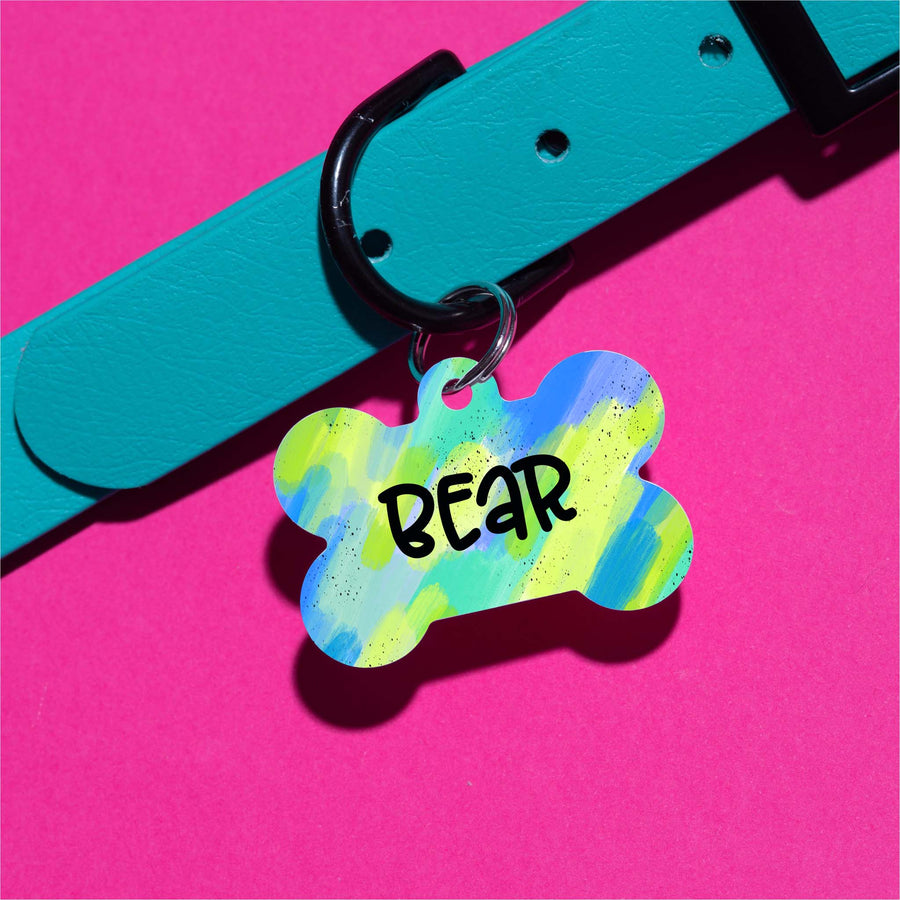 Blueberry Watercolor Pet ID Tag - The Dapper Paw
