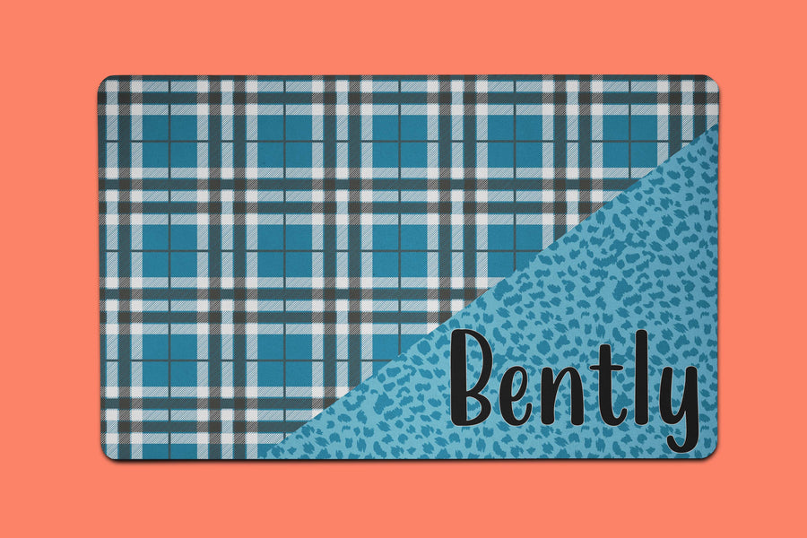 Blue's Plaid Placemat - The Dapper Paw