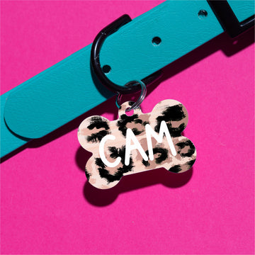 Blush Leopard Pet ID Tag - The Dapper Paw