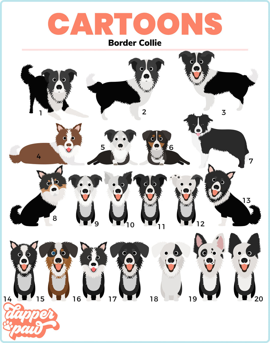 Border Collie Mouse Pad - The Dapper Paw