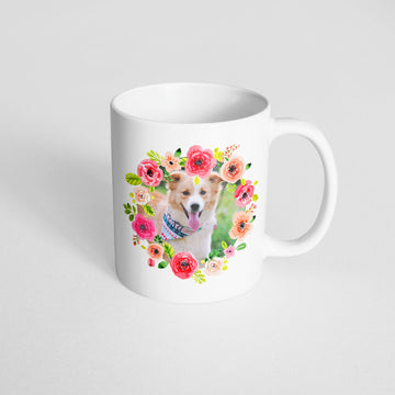 Photo Mug - Bright Floral Frames - The Dapper Paw