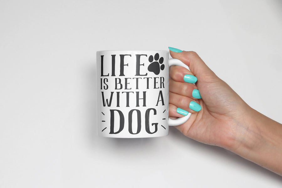 Life is Better with a Dog Coffee Mug - The Dapper Paw