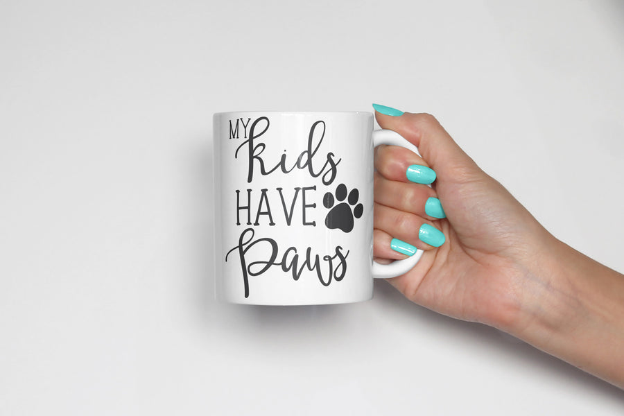 My Kids have Paws Coffee Mug - The Dapper Paw