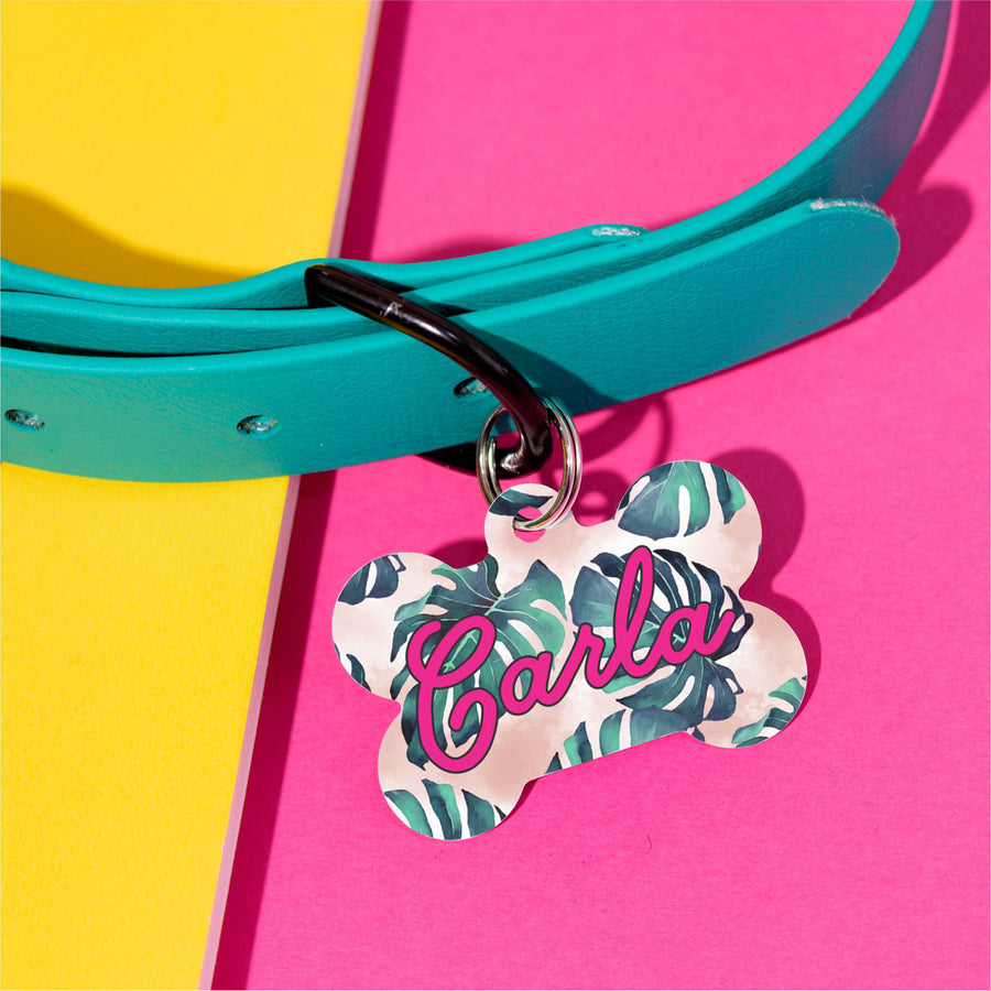 Carla Palm Pet ID Tag - The Dapper Paw