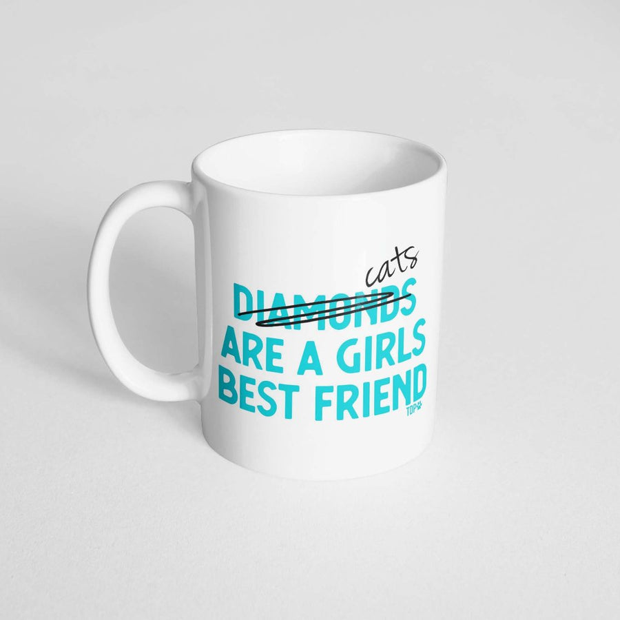 Cats are a Girl's Best Friend Coffee Mug - The Dapper Paw