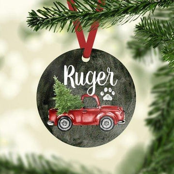 Christmas Truck Photo Ornament - The Dapper Paw