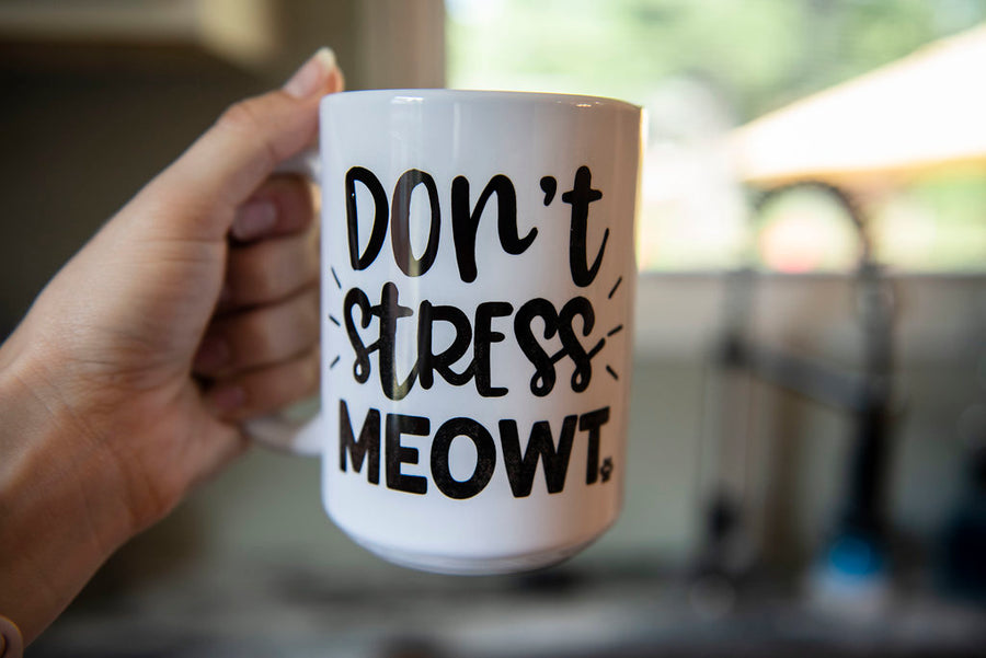 Don't Stress Meowt Coffee Mug - The Dapper Paw