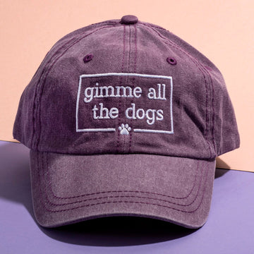 Gimme All The Dogs Hat - Wine - The Dapper Paw