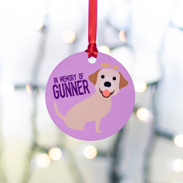 In Memory Of - Single Pet Cartoon Ornament