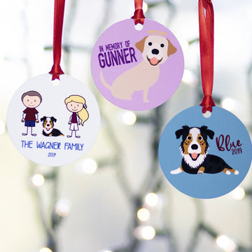 Multiple Pet Cartoon Ornament - The Dapper Paw
