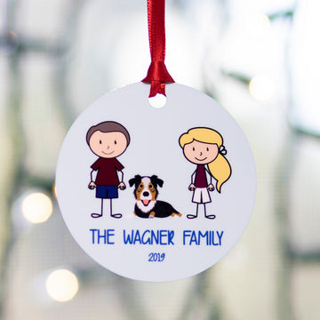 Pup and Me Cartoon Ornament