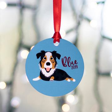 ALL BREEDS - Single Pet Cartoon Ornament - The Dapper Paw