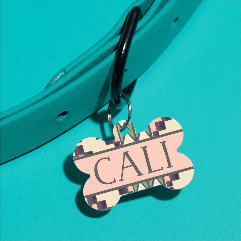 Desert Aztec Pet ID Tag - The Dapper Paw