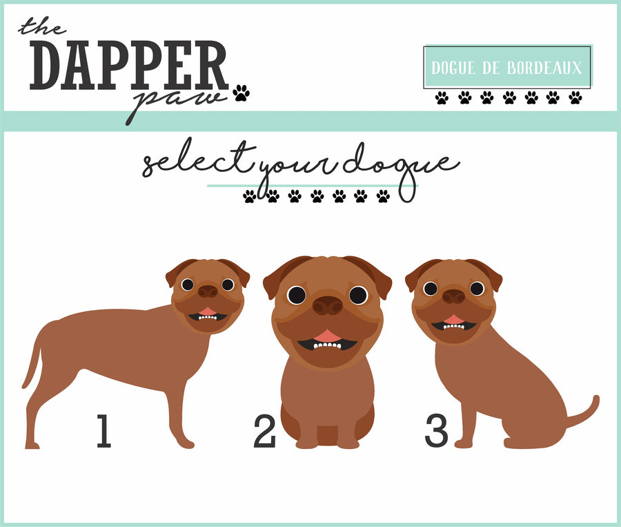 Dogue De Bordeaux Mouse Pad - The Dapper Paw