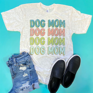 Vintage Distressed Dog Mom Tee