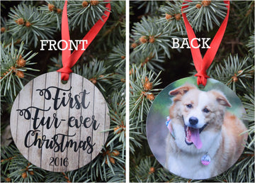 First Furever Christmas Photo Ornament - The Dapper Paw