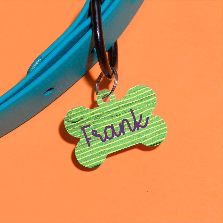 Frank Stripes Pet ID Tag