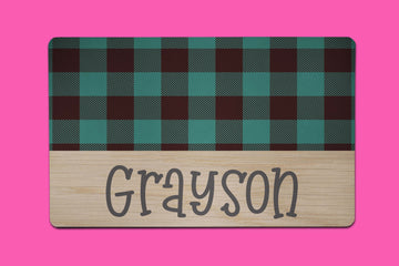 Green Grayson Plaid Placemat - The Dapper Paw