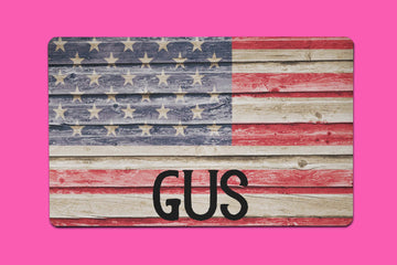 Gus Wooden Flag Placemat