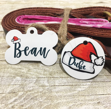 Santa Hat Pet ID Tag - The Dapper Paw