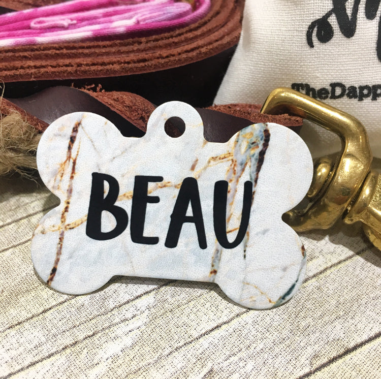 Gold Marble Pet ID Tag - The Dapper Paw
