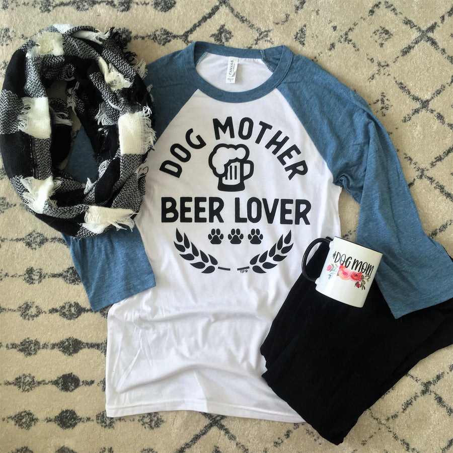 Dog Mother Beer Lover Tee - The Dapper Paw