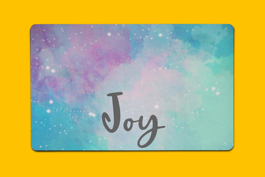 Joy Watercolor Placemat