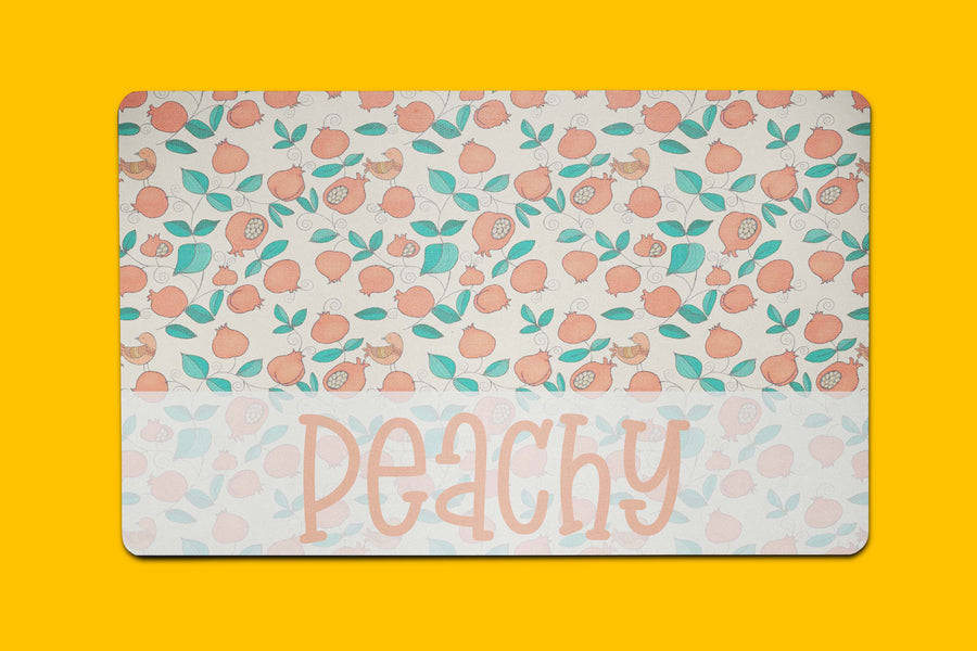 Just Peachy Placemat - The Dapper Paw