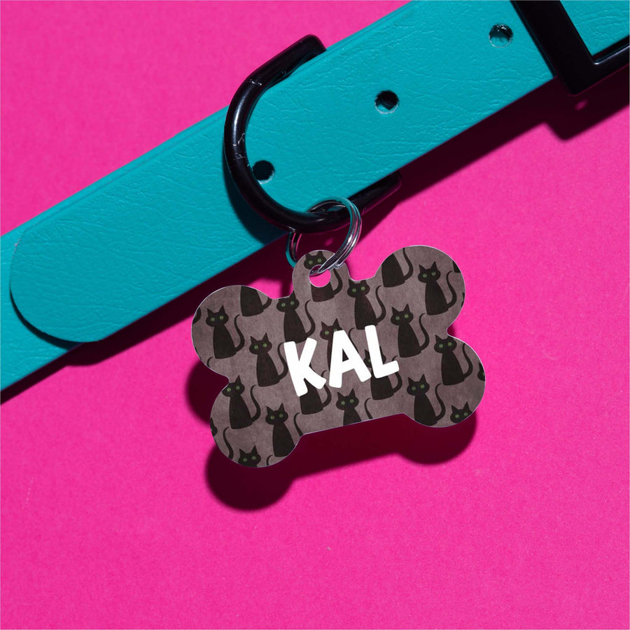 Black Cats Pet ID Tag