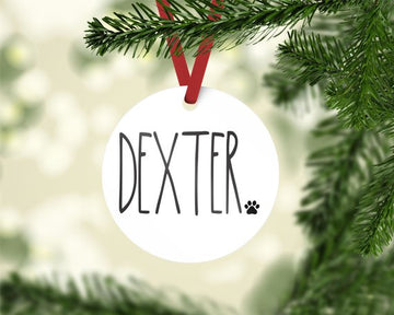 Pet Name Photo Ornament - The Dapper Paw